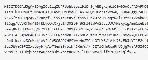 Base 64 string for Azure certificates