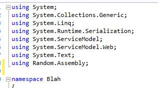 C# namespace declaration
