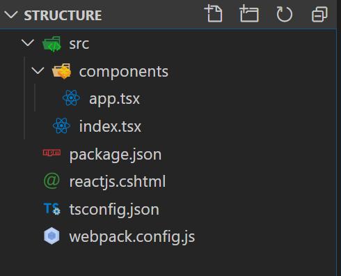 Folder Structure for reactjs in asp.net core