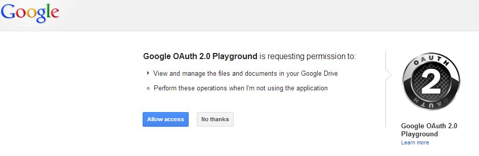 OAuth 2.0 Playground